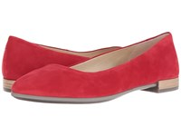 Ecco Shape Pointy Ballerina Chili Red Calf Nubuck Women's Slip On Shoes
