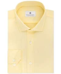 Ryan Seacrest Distinction Men's Fitted Yellow Dress Shirt Only At Macy's