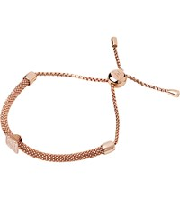 Links Of London Starlight 18Ct Rose Gold Vermeil And Sapphire Square Bracelet