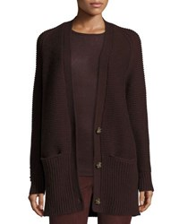 Vince Chunky Wool Cashmere Cardigan Raisin