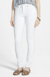 Madewell High Rise Skinny Jeans Pure White