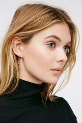 Tai Jewelry Womens Traveling Roses Hoops