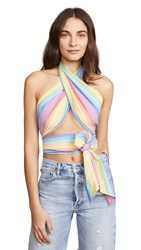 Mds Stripes Everything Scarf Top Multi Stripe