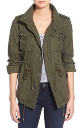 Women's Pleione Linen And Cotton Blend Military Jacket