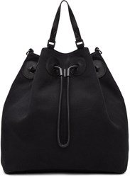 Maison Martin Margiela Black Canvas Bucket Backpack
