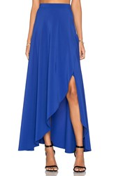 Donna Mizani Wrap Skirt Blue