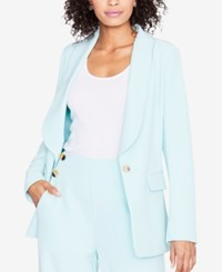 Rachel Roy One Button Blazer Created For Macy's Mint Leaf