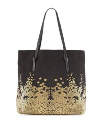 Foley Corinna Venus Canvas Metallic Tote Bag Black Gold