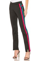 Pam And Gela R19 Track Pant With Rainbow Stripes Black