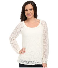 Roper 0064 Allover Lace Peasant Blouse White Women's Blouse