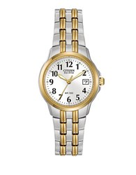 Citizen Silhouette Eco Drive Two Tone Stainless Steel Watch