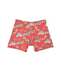 Tommy Bahama Printed Cotton Modal Jersey Boxer Brief Hula Girls Coral Island Men's Underwear Orange