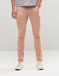 Asos Extreme Super Skinny Jeans In Light Pink Rose Dust