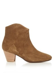 Isabel Marant Etoile Dicker Suede Ankle Boots Brown