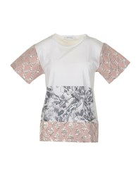 M.Grifoni Denim Topwear T Shirts Women Light Pink