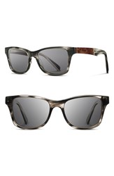 Men's Shwood 'Canby' 53Mm Polarized Sunglasses Pearl Grey Elm Burl Grey