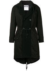 Moschino Double Breasted Parka Black