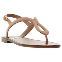 Steve Madden Takeaway Toe Post Flat Sandals Tan