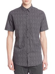 Zanerobe Printed Short Sleeve Shirt Black