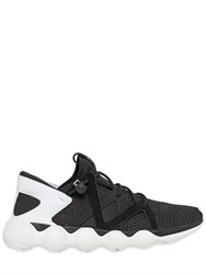 Y 3 Kyujo Mesh And Leather Sneakers