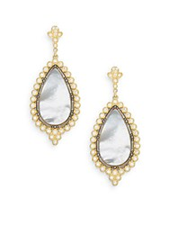 Freida Rothman Femme Mother Of Pearl And 14K Yellow Gold Vermeil Teardrop Earrings