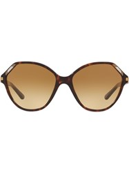 Tory Burch Oversized Frame Sunglasses Brown
