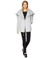 Blank Nyc Big Collar Grey Sweater In Salt And Pepper Salt And Pepper Gray