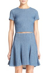 Women's Alice Olivia 'Sarina' Woven Linen Crop Top