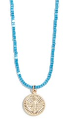 Shashi Blue Jean Baby Necklace Gold Blue