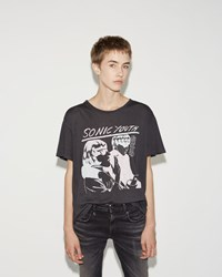 R 13 Sonic Youth Boy Tee Vintage Black