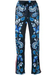 P.A.R.O.S.H. Dotted Paisley Track Pants Blue