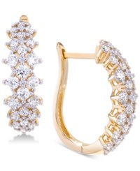 Wrapped In Love Diamond Hoop Earrings 2 Ct. T.W. 14K Gold Created For Macy's Yellow Gold