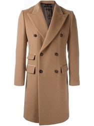Marc Jacobs Double Breasted Coat Nude Neutrals