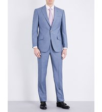 Richard James Regular Fit Wool Suit Steel