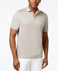 Tasso Elba Men's Supima Blend Cotton Polo Only At Macy's City Taupe Combo