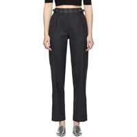 Rag And Bone Navy Pink James Trousers