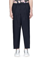 Marni Virgin Wool Hopsack Jogging Pants Blue