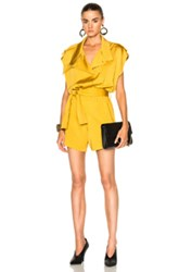Carolina Ritzler Dynastie Romper In Yellow