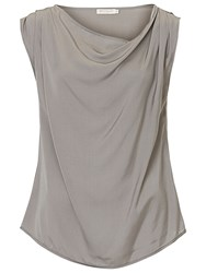 Betty And Co. Cowl Neck Shell Top Grey Cloud
