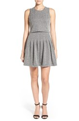 Women's Rd Style Mock Two Piece Herringbone Dress