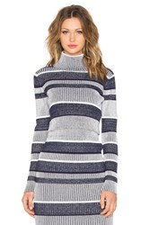 Finders Keepers Never Catch Me Crop Sweater Navy
