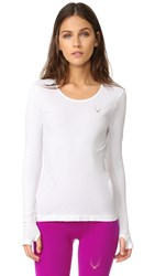 Lucas Hugh Core Technical Knit Long Sleeve Top White