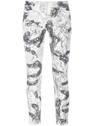 Faith Connexion Glitter Detail Skinny Jeans White