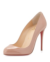 Christian Louboutin Dorissima Patent Red Sole Pump Nude