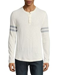 Cashmere Long Sleeve Henley Tee Marshmallow