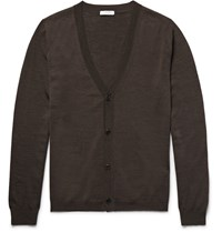 Boglioli Virgin Wool Cardigan Brown
