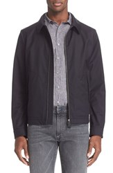 Men's Canali Water And Wind Resistant Tech Wool Jacket