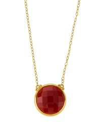 Gurhan 24K Gold Carnelian Pendant Necklace