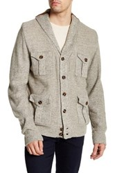 Weatherproof Vintage Faux Shearling Lined Pocketed Shawl Neck Cardigan Beige