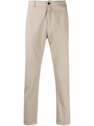 Department 5 Cropped Slim Fit Chinos Neutrals